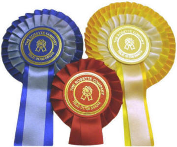 Rosettes Manufacturer of Personalised Rosettes  High quality Ribbon